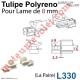 Tulipe Polyréno (Paire) pour Lame de 8 mm