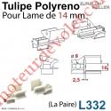 Tulipe Polyréno (Paire) pour Lame de 14 mm