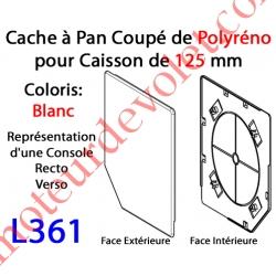 Cache à Pan Coupé Blanc pour Joue Polyréno de 125 (Paire)