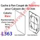 Cache à Pan Coupé Blanc pour Joue Polyréno de 150 (Paire)