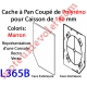 Cache à Pan Coupé Brun pour Joue Polyréno de 180 (Paire)