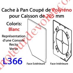 Cache à Pan Coupé Blanc pour Joue Polyréno de 205 (Paire)