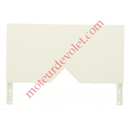 Console Aluréno 150 à Pan Coupé à 45° Laquée Blanc (BJ31) ± Ral 9016 (Paire)