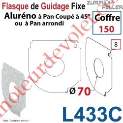 Flasque Fixe Percé ø 70 mm pr Passage Tube pr Aluréno Pan Coupé à 45° & Arrondi de 150