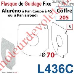 Flasque Fixe Percé ø 70 mm pr Passage Tube pr Aluréno Pan Coupé à 45° & Arrondi de 205