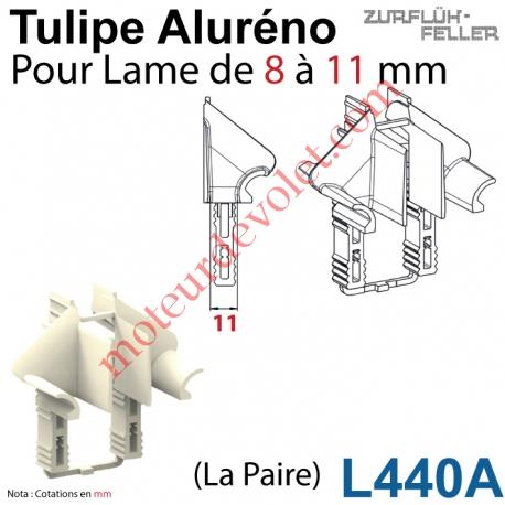 Tulipe Aluréno (Paire) pour Lame de 8 à 11 mm