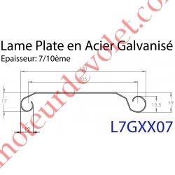 Lame Plate P107 Galvanisée 7/10, pas de 107 mm