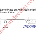 Lame Plate P107 Galvanisée 9/10, pas de 107 mm