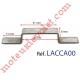 Cavalier Acier Galva Non Percé Laisse Passage 29 x 8 mm pour Tringle Verrouillage