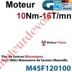 Moteur Geiger Filaire 10/16 Avec FdC Mécaniques Sans Manoeuvre de Secours
