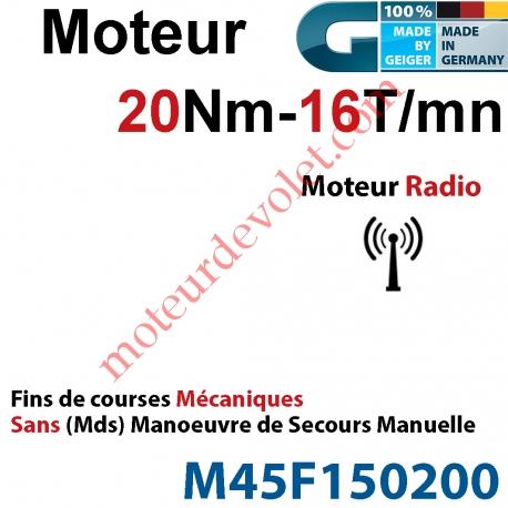 Moteur Geiger Radio 20/16 Avec FdC Electroniques & Récepteur Radio Sans  Manoeuvre de Secours