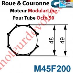 Jeu d'Adaptation pour Moteur M45 au Tube Octo 52