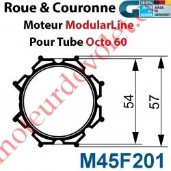 Jeu d'Adaptation pour Moteur M45 au Tube Octo 60