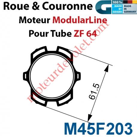 Jeu adaptation pour moteur M45 au tube ZF 64
