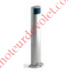 Colonne en Aluminium Anodisé Naturel Avec 1 Logement Protégé pour 1 PhotoCellule série MOF Hauteur 500 mm