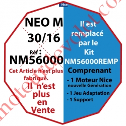 Moteur Nice Filaire Néo M 30/16 M 50, remplacé par NM56000REMP