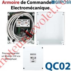Armoire de Commande Electro-Mécanique pour Commander 1 moteur 230 vca Monophasé