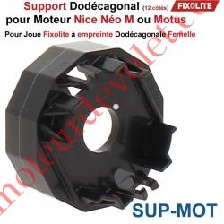 Support Dodécagonal pour Moteur Nice Néo M ou Motus dans Coffre Fixolite