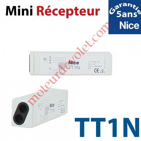Récepteur Mini Volet Roulant 230 vca 1 canal 433,92MHz Rolling Code 3 Fonctions Sortie 500 w ip 55