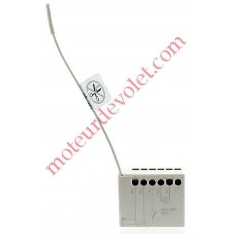 Récepteur Mini Eclairage 230 vca 1 canal 433,92MHz Rolling Code Sortie 1000 w