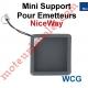 Mini Support de Protection pour Emetteur NiceWay Coloris Graphite