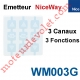 Emetteur Nomade NiceWay 3 Canaux 3 Fonctions