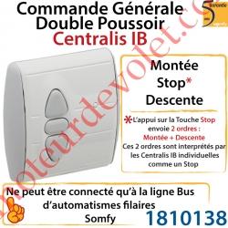 Commande Générale Centralis IB (Internal Bus) Fonction Double Poussoir