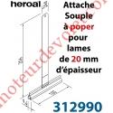 Attache Tablier Marron Longueur 200 mm à Visser pour Lame 20 mm d'épaisseur