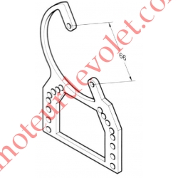 Support pour Positionner le Treuil Ace à 45° dans Console Alu Domino de Simbac de 125 à 250