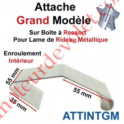 Attache Lame Grande Boucle Largeur 56mm Acier Galva pour Boîte Ressort Enroulement Intérieur