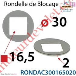 Rondelle de Blocage en Acier Galvanisé ou Electro-Zingué 30 x 16,5 x 2 mm