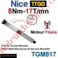 Moteur TT Go Filaire 8/17 Avec FdC Manuels Série M (Medium ø45mm)