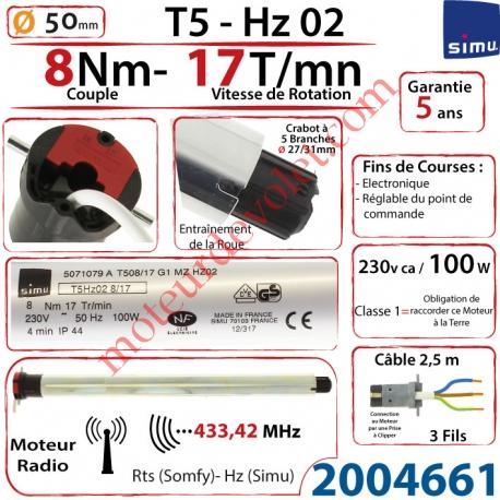 Moteur Simu Radio Hz02 8/17 T5