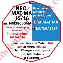 Moteur Nice Radio NéoMat MA 15/16 Av FdC Electro & Radio