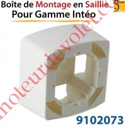 Boîtier de Montage en Saillie de 43,5 mm Coloris Blanc pour Gamme Intéo
