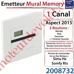 Emetteur Mural Memory Aspect 2015 Simu Hz-Rts Blanc (1 canal)