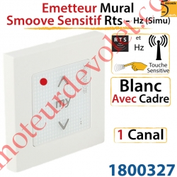 Emetteur Mural Smoove Sensitif Rts Blanc Avec Cadre Blanc