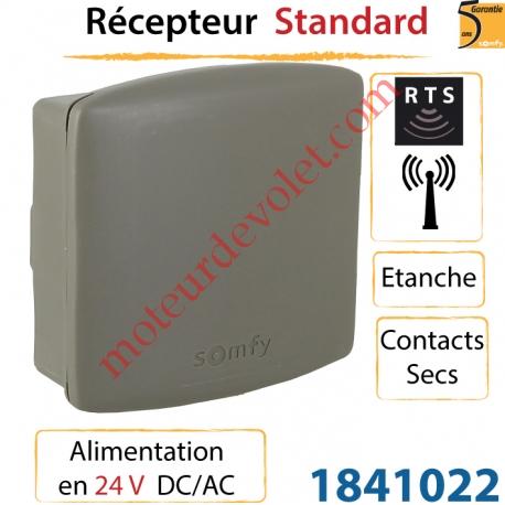 Récepteur Rts Standard Alimenté en 24v Dc/Ac Etanche Rts Sortie 2 Contacts Secs