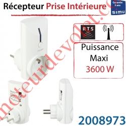 Récepteur Prise intérieure Rts Blanche ip 30 Puissance Maxi 3 600 w