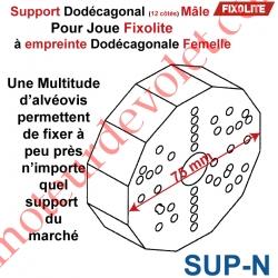 Support de Manoeuvre Dodécagone Normal Prépercé pour Fixation des Supports par Vis pour Coffre Fixolite
