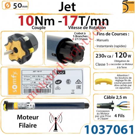 Moteur Somfy Jet 10/17 LT 50