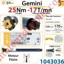 Moteur Somfy Gémini 25/17 LT 50