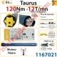 Moteur Somfy Taurus 120/12 LT 60