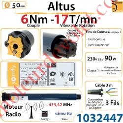 Moteur Somfy Altus 6/17 Rts LT 50