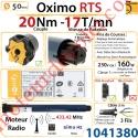 Moteur Somfy Oximo Rts 20/17 LT 50