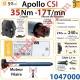 Moteur Somfy Apollo Csi 35/17 LT 50  Avec Mds