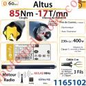 Moteur Somfy Altus Rts 85/17 LT 60