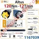 Moteur Somfy Altus Rts 120/12 LT 60