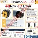 Moteur Somfy Oximo io 40/17 LT 50
