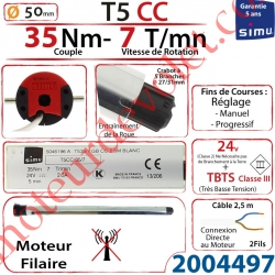 Moteur Simu Filaire T5CC 35/7 24 v